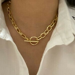 NEW 18k Yellow Gold Toggle Link Chain Necklace